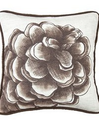 Water Print Pinecone Pillow by