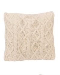 Cable Knit Pillow 18X18 Cream by