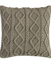 Cable Knit Pillow 18X18 Green by