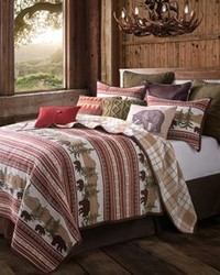 Bear Trail  quilt 3 PC  Queen Full by