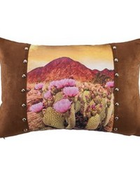 Desert Scene Pillow with Studs Details 18x12 by