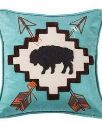 Large Buffalo Pillow by
