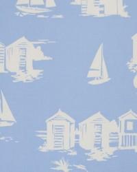 Beach Huts Blue by