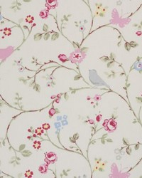 Clarke and Clarke Bird F0293 Grey Fabric