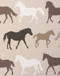 Clarke and Clarke STAMPEDE F0528/02 CAC LINEN Fabric