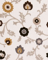 Clarke and Clarke Kashmir F0653 Ochre Fabric