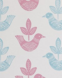 Clarke and Clarke Doves Pink Fabric