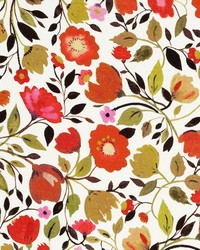 Red Tulips Linen Autumn by