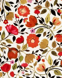 Clarke and Clarke Red Tulips Velvet Autumn Fabric