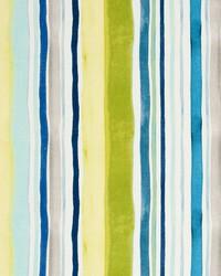 Sunrise Stripe Linen Aqua Citrus by