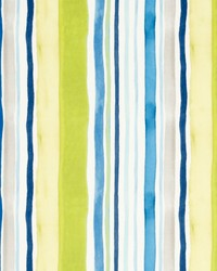 Clarke and Clarke Sunrise Stripe Velvet Aqua Citrus Fabric