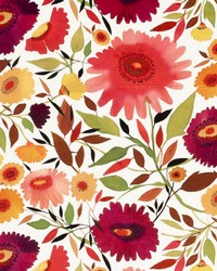 Clarke and Clarke Zinnias Velvet Autumn Fabric