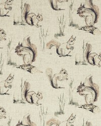 SQUIRRELS F0856/01 CAC LINEN by