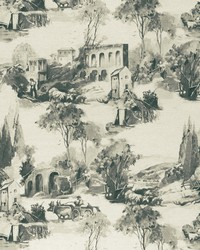 Grey French Country Toile Fabric  F0997 1 CHARCOAL