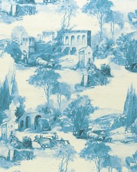 French Country Toile Fabric  F0997 3 DELFT