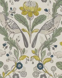 ORCHARD BIRDS F1316/02 CAC BIRDS FOREST/CHARTREUSE by