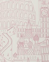 W0015 Pink Wallpaper by  Clarke and Clarke Wallpaper