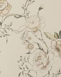 Clarisse Wp Charcoal by  Clarke and Clarke Wallpaper