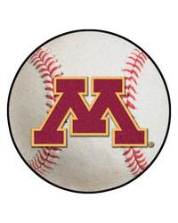Minnesota Baseball Mat 26 diameter  by