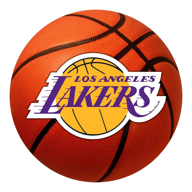 Large Basketball Area Rug: LA Lakers Basketball Rug