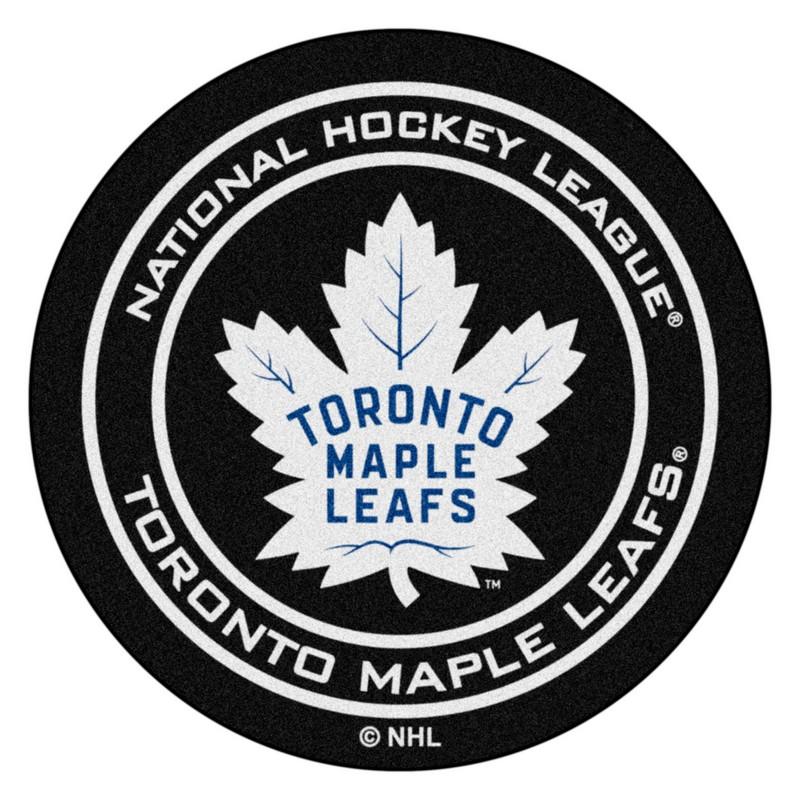 Toronto Maple Leafs Hockey Puck Rug Interiordecorating