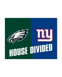 NFL Philadelphia Eagles New York Giants House Divided Rugs 34x45 by