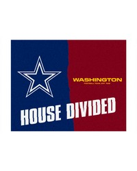 NFL Dallas Cowboys Washington Redskins House Divided Rugs 34x45 by