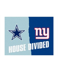 NFL Dallas Cowboys New York Giants House Divided Rugs 34x45 by