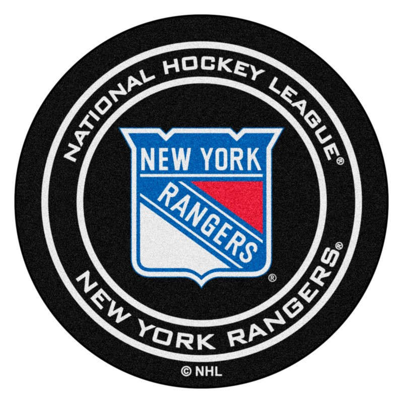 New York Rangers Hockey Puck Rug Interiordecorating