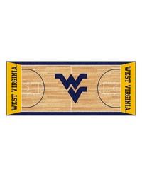 West Virginia Basketball Court Runner 30x72 by