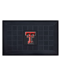 Texas Tech Medallion Door Mat by