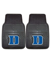 Duke Heavy Duty 2Piece Vinyl Car Mats 18x27 by