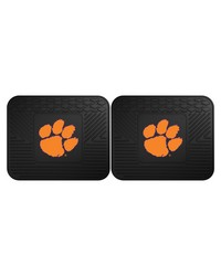 Clemson Backseat Utility Mats 2 Pack 14x17 by