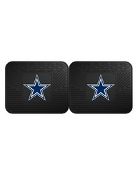 NFL Dallas Cowboys Backseat Utility Mats 2 Pack 14x17 by