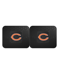 NFL Chicago Bears Backseat Utility Mats 2 Pack 14x17 by