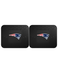 NFL New England Patriots Backseat Utility Mats 2 Pack 14x17 by
