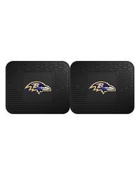 NFL Baltimore Ravens Backseat Utility Mats 2 Pack 14x17 by