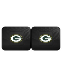 NFL Green Bay Packers Backseat Utility Mats 2 Pack 14x17 by