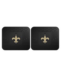 NFL New Orleans Saints Backseat Utility Mats 2 Pack 14x17 by