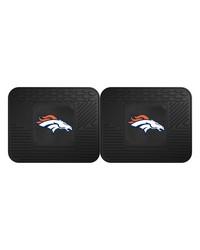 NFL Denver Broncos Backseat Utility Mats 2 Pack 14x17 by
