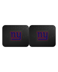 NFL New York Giants Backseat Utility Mats 2 Pack 14x17 by