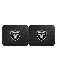 NFL Oakland Raiders Backseat Utility Mats 2 Pack 14x17 by