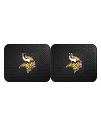 NFL Minnesota Vikings Backseat Utility Mats 2 Pack 14x17 by