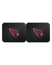 NFL Arizona Cardinals Backseat Utility Mats 2 Pack 14x17 by