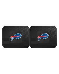 NFL Buffalo Bills Backseat Utility Mats 2 Pack 14x17 by