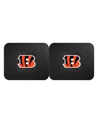 NFL Cincinnati Bengals Backseat Utility Mats 2 Pack 14x17 by