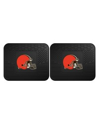 NFL Cleveland Browns Backseat Utility Mats 2 Pack 14x17 by