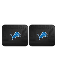 NFL Detroit Lions Backseat Utility Mats 2 Pack 14x17 by