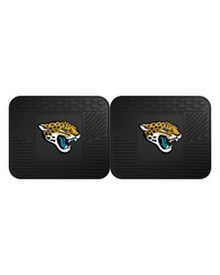 NFL Jacksonville Jaguars Backseat Utility Mats 2 Pack 14x17 by