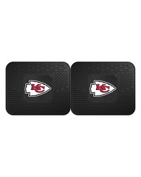 NFL Kansas City Chiefs Backseat Utility Mats 2 Pack 14x17 by